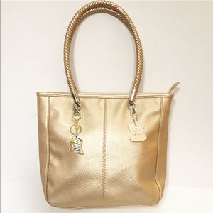 Handbags - Beautiful Pale Gold Leather Handbag NWOT
